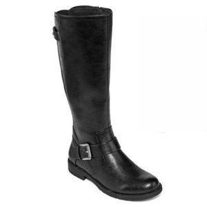 Yuu Catie Black Knee High Riding Boots Women's 5 M
